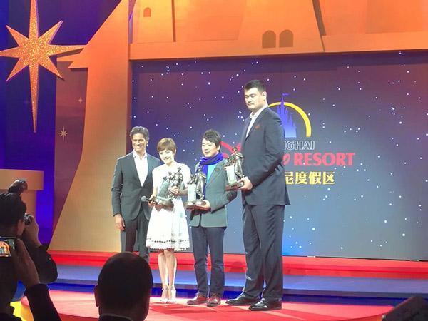 姚明、孙俪、郎朗成为上海迪士尼荣誉大使。 中青在线 图