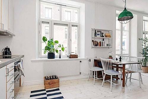 极简北欧风 16图纯白色一居室公寓图片