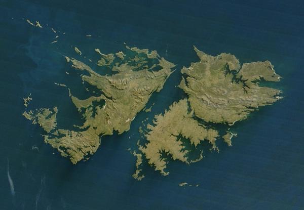 马尔维纳斯群岛卫星图片