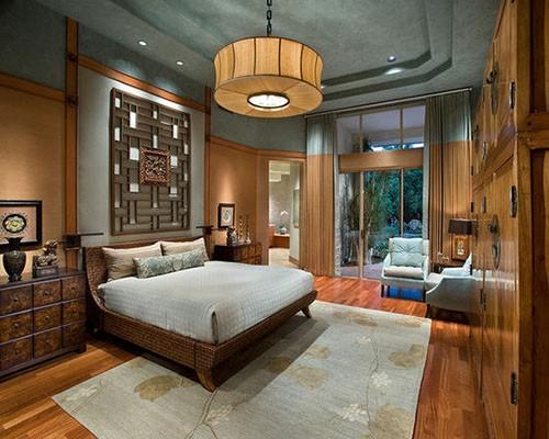 空灵自然意境带到卧室,精致的线条和镂空墙面演绎着传统中式家具魅力.图片