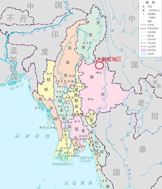 大勐宜地区大致位于掸邦北部腊戌与木姐之间的贵概一带 搜狐国际制图