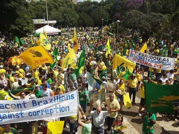 抗议游行轮番上演 巴西政党街头拼实力
