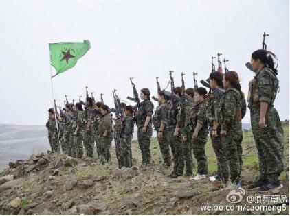 下图是美军-YPG结盟后,叙利亚库尔德控制区一年中的变化。黄色是被库尔德称为罗贾瓦(西)的解放区。马上就要变更大了。