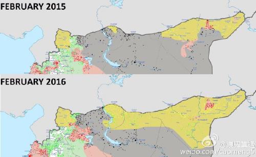 可以看出叙利亚库尔德势力已经远远超过了反对派。比起大部由极端伊斯兰主义者组成的反对派,世俗化的库尔德力量更合适作为美国在当地投射势力的代理人。