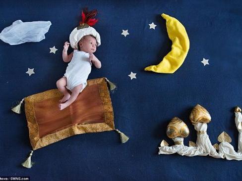 为婴儿拍神话照片各种主题(组图)