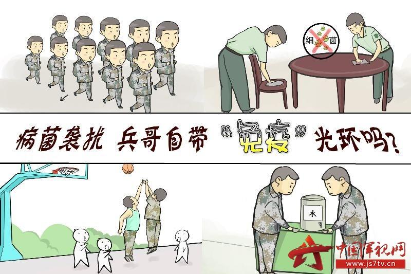 轻松小漫画讲述军营抗病常识