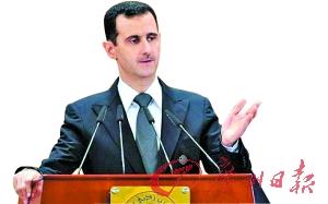 俄罗斯外交部长拉夫罗夫4月1日举行新闻发布会,直斥媒体有关美国和俄罗斯私下就叙利亚总统巴沙尔·阿萨德(左图)去留问题达成共识的报道不属实。
