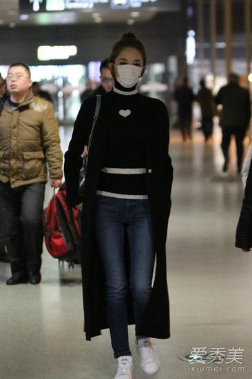 黑色长外套