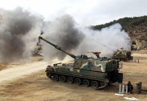 美囹k�9�d_原文配图:韩国k-9自行火炮.