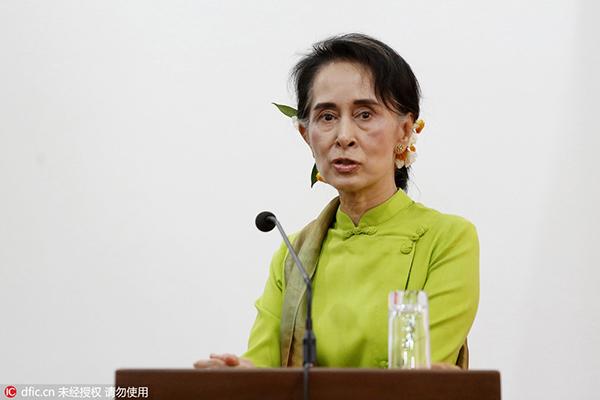 昂山素季4月7日宣告,缅甸新当局方案在两周内开释一切被释放的政治犯,这一申明将作用到被释放在狱中期待审讯的500名监犯。 东方IC 图