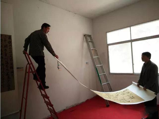 撤展时,杨店村党支部书记张奇先生忙上忙下,和马老师的父亲配合默契,你们辛苦了!感恩!