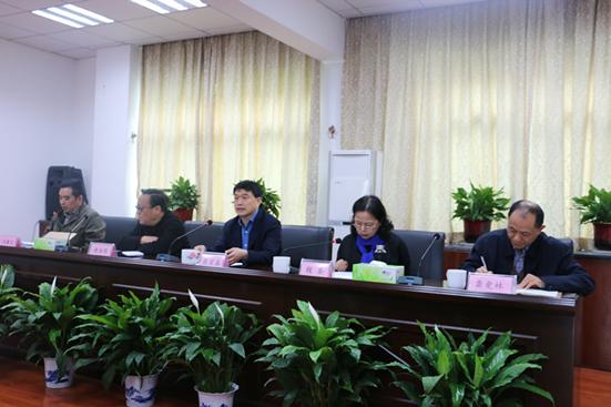 湖南省作家协会举行部分干部职工大会集会现场
