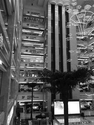 事发财居广场的参观电梯