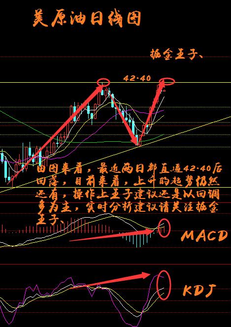 k线沿布林带上部震荡上行;五日均线和十日均线持续上涨趋势;macd红色图片