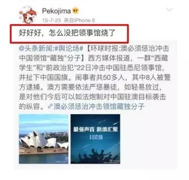 """""""做中国人是耻辱""""。"""