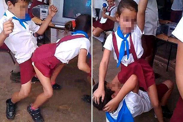 古巴小学生教育热舞尺度惊人小学质疑贴身(组分网民班考