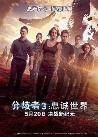 《分歧者3:忠诚世界》终极版海报