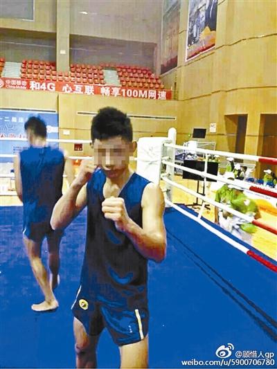 郭亮是四川省江安县一所武术学校的学生,主练散打,已获得教练资格证