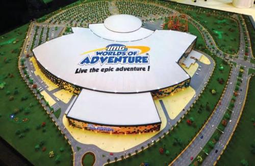 材料图像:全世界最大的室内主题乐土本年炎天行将在迪拜开幕。