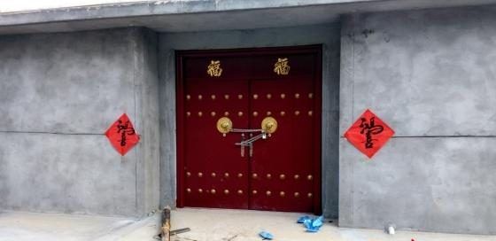 徐增志家的大门已被锁上。