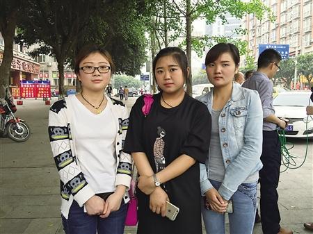 参加救人的黄晓秘、杨莉和汪澜芳 记者 黄平 摄