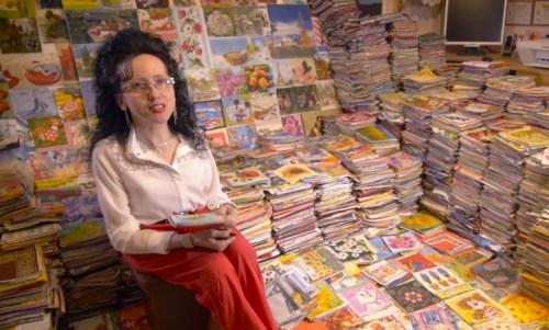 一名斯洛伐克女子自1997年开始收集餐巾纸,设计款式琳琅满目。