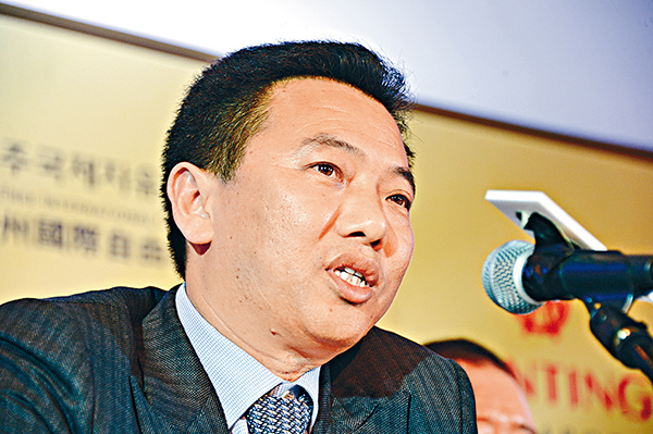 2014年2月7日,香港,图为蓝鼎国际主席仰智慧。 东方IC 资料