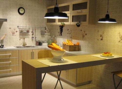 4平厨房装修效果图:花色生活,简欧式的田园设计
