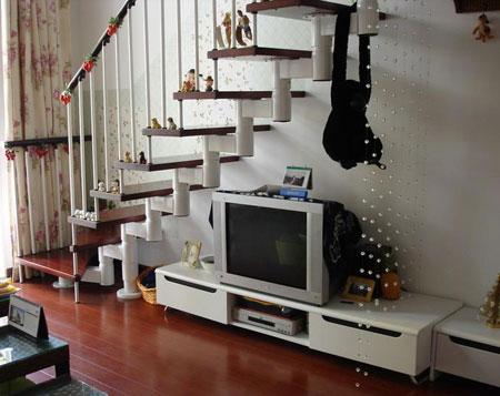 楼梯扶手装修效果图 合理利用空间
