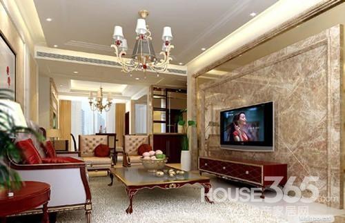 欧式风格的大理石电视背景墙设计