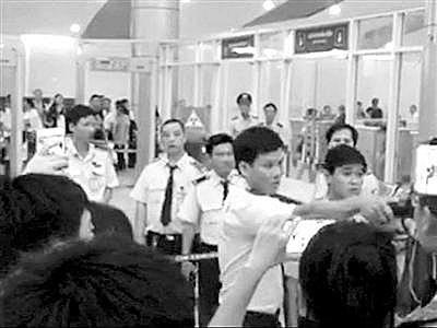 事发当日的越南机场视频截图。