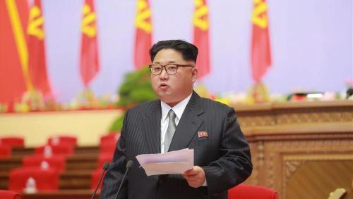 图片据朝中社网站