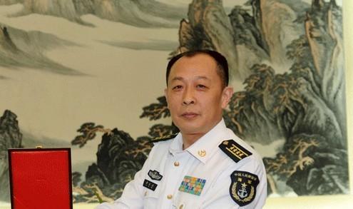 图为南海舰队原参谋长李玉杰调任海军后勤部部长。