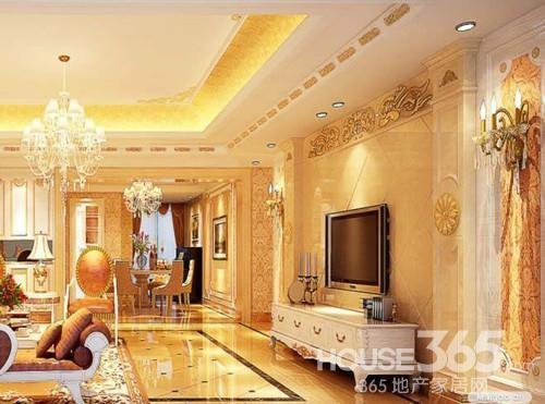 石材感觉的电视墙壁画-微晶石的电视背景墙 精心点缀客厅 组图