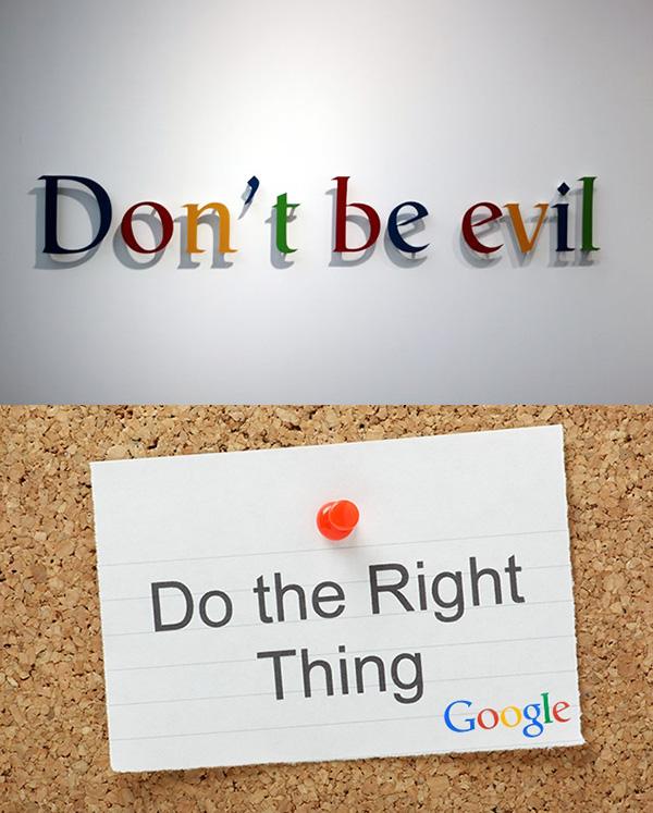 """去年,谷歌母公司Alphabet把其著名的格言从""""不作恶(Dont"""