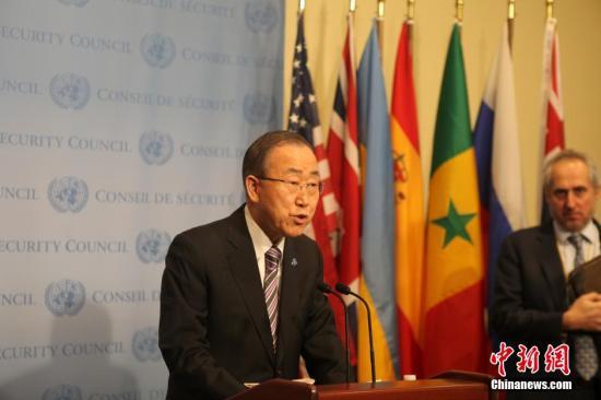 资料图片:联合国秘书长潘基文。中新社记者 邓敏 摄