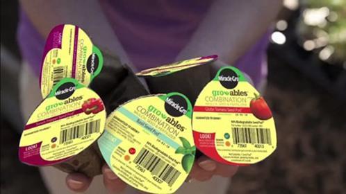 简单栽培的果冻种子包装