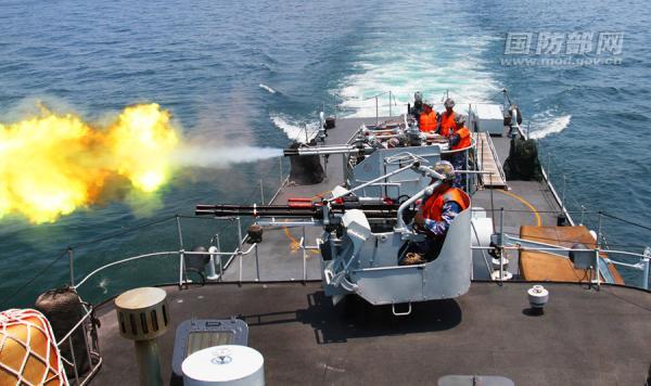 对海火炮袭击。国防部网站 图