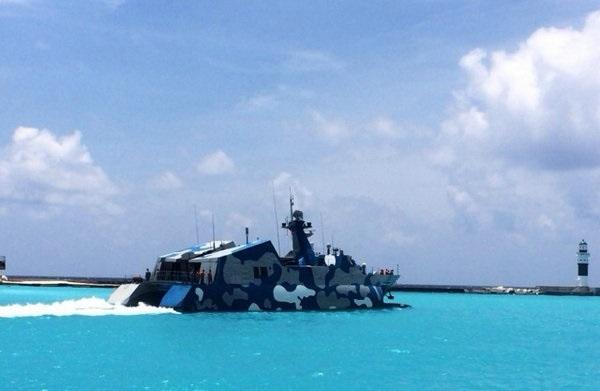 原文配图:022导弹艇现身西沙永兴岛。