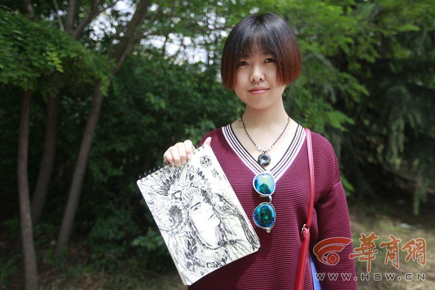 咸阳女大学生手绘咸阳8景(组图)