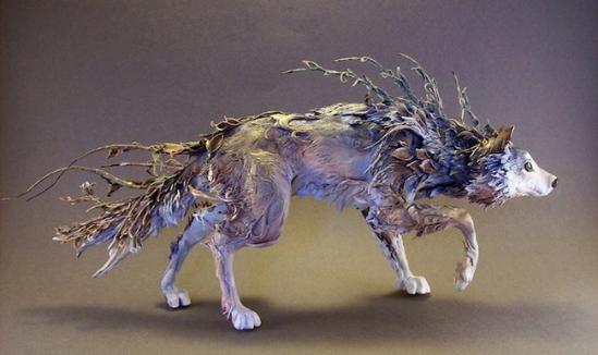 奇幻的超现实动物雕塑(组图)