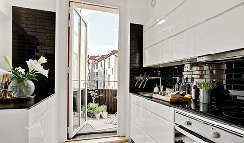 【组图】黑白纯净60平米 极简北欧loft公寓(组图)图片