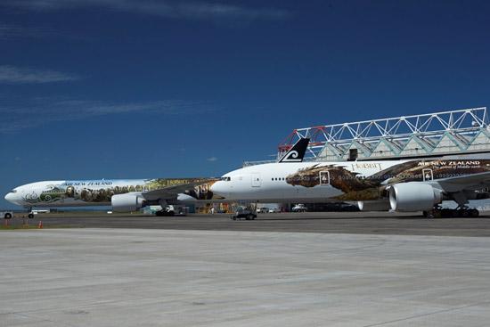 新西兰航空霍比特人主题喷绘飞机