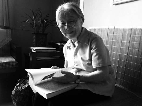 杨绛 2012年7月摄于三里河寓所
