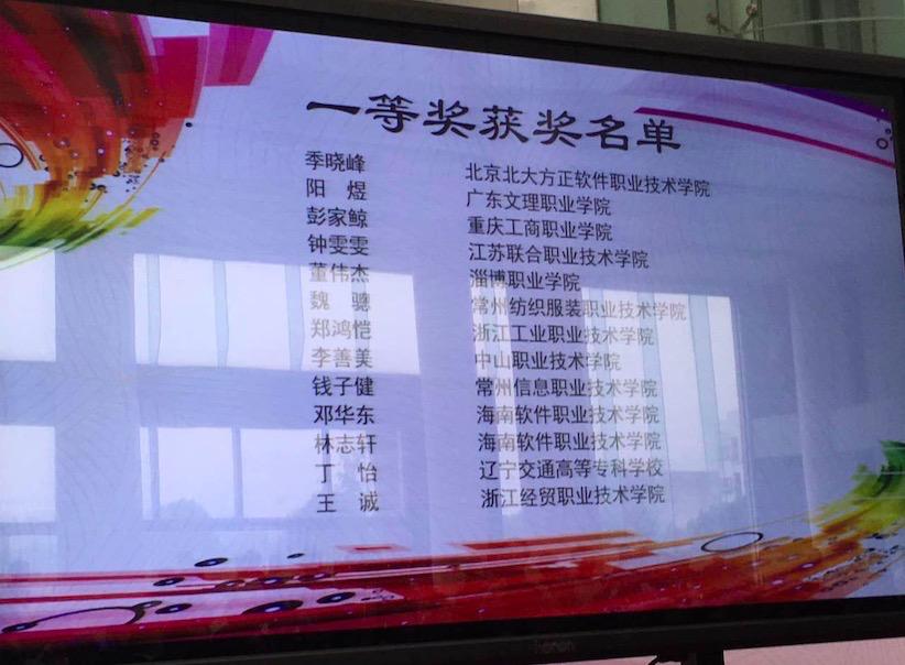 全国职业院校技能大赛由国家教育部、工信部等37个部委联合主办,是全国职业教育领域最高级别的赛事。动漫制作赛项迄今已举办两届,在2014年首届竞赛中,北京北大方正软件技术学院动漫制作技术专业以第一名和第四名的好成绩摘得两个一等奖。
