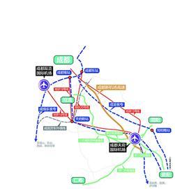 去成都天府国际机场太远 开车坐火车赶地铁又快又方便 图图片