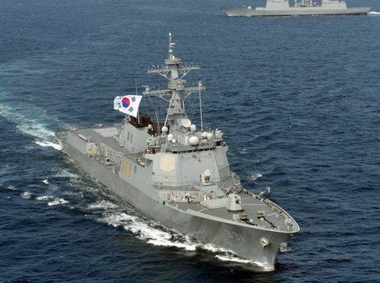 资料图:韩国宙斯盾驱逐舰。