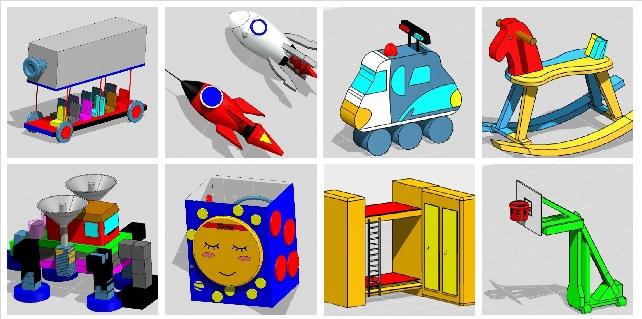 龙溪小学学生部分3d设计作品展示图片