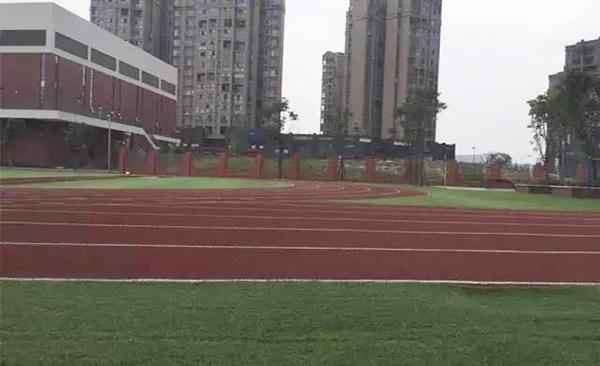 教科院附小的操场跑道,多位到过校园的家长反应,跑道和课堂均有刺鼻的滋味。