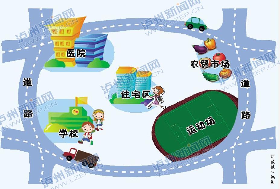 城市儿童手绘地图